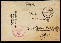 A4343) DR Feldpostbrief Von FP L 19549 Mit Stummen Stempel 23.3.45 - Briefe U. Dokumente