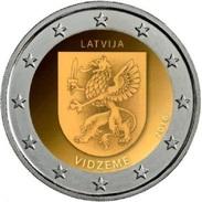 LETTONIA - 2 Euro 2016 - Vidzeme - UNC - Lettonia