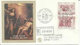 Città Del Vaticano 1976, Tiziano (o), Serie Completa Su Fdc Viaggiata - FDC