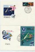 SOVIET UNION 1986 Venus-Halley Program Stamp And Block On 2 FDCs.  Michel 5582, Block 187 - 1923-1991 USSR