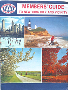 Revue Automobile Club Of New York (AAA) - Members' Guide To New York An Vicinity (cartes Routières Et Adresses) - Tourism & Regions