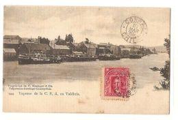 CHILE - VAPORES DE LA C.S.A. EN VALVIDIA - EDIT KIRSINGER - STAMP - 1900s - Postcards
