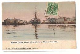 CHILE - TALCAHUANO ARMADA CHILENA  CRUCERO ESMERALDA - EDIT BRANDT - STAMP 1900s - Postcards