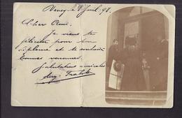 CPA PHOTO SUISSE - VEVEY - TB PLAN En CP Photographique De L'entrée D'un Etablissement - CP Voyagée 1898 - VD Vaud