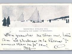 Sweden Ice Boats Nordic Games SALTSJÖBADEN NORDISKE SPELEN 1901 ISJAKTER KAPPSEGLING - Schweden