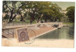MEXICO - LAGO DE CHAPULTEPEC - EMBARCADERO - RUHLAND & AHLSCHIER - STAMP - 1906 - Cartoline