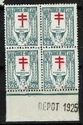 235 Bloc 4  **  Bdf  Dépôt 1925 - Belgique