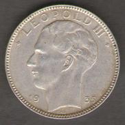 BELGIO 20 FRANCHI 1935 AG SILVER - 1934-1945: Leopoldo III