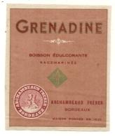 étiquette   - Années 1890/1930 - Boisson édulcorante - Grenadine - Archambeaud   - Bordeaux - Other