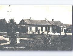 Strömsnäsbruk RAILWAY STATION RPPC H.Elmsgrens Bok- Pappershandel C.1940 - Zweden