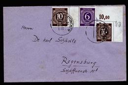 A4346) Kontrollrat Brief Von München 20.11.46 Mit Eckrandstück Mi.918 - Gemeinschaftsausgaben