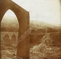Positif Stéréo Verre. La Réunion. Viaduc écroulé De La Grande Ravine. - Photos Stéréoscopiques