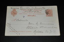 282- Postkarte Von Barcelona Nach Altona Deutschland - Oblitérés