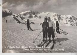 L'aquila Gran Sasso D'italia Campi Di Neve Sci Sciatori Vetta Occidentale 1957 Vg - L'Aquila