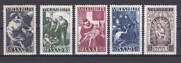 SAAR, VOLKSHILFE 1949 Mi 267-271 EN MUY BUENAS CONDICIONES SIN GOMA (MURILLO) - 1947-56 Ocupación Aliada