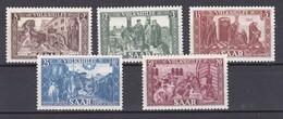 SAAR, VOLKSHILFE 1950 Mi 299-303 EN MUY BUENAS CONDICIONES SIN GOMA - 1947-56 Occupation Alliée