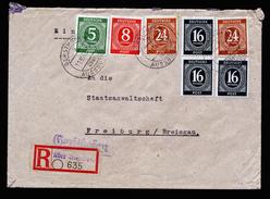 A4348) Kontrollrat R-Brief Gersthofen 11.10.46 Prov. R-Zettel - Gemeinschaftsausgaben