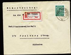 A4349) Kontrollrat R-Brief Marburg-Rheinau 1.7.47 Prov. R-Zettel - Gemeinschaftsausgaben