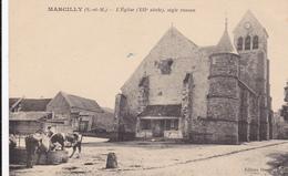 CARTE POSTALE   MARCILLY 77  L'église (XII°),style Roman - Autres Communes