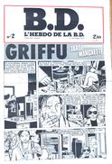 D.D. L'Hebdo De La BD N° 2 (17 Octobre 1977) - Tardi Manchette: Griffu - Humour