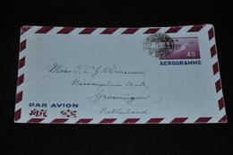 9- Aerogramme Van Yokohama Naar Groningen - Aerogramas