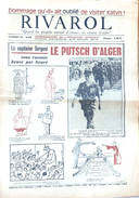 Hebdomadaire De L'Opposition Nationale: Rivarol N° 870 (14 Septembre 1967) Le Putsch D'Alger Heure Par Heure - Politics