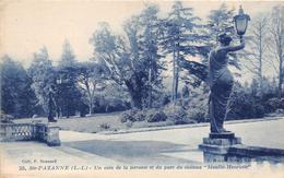 """¤¤   -  23  -  SAINTE-PAZANNE   -  Un Coin De La Terrasse Et Du Parc Du Chateau  """" Le Moulin Henriet """"    -  ¤¤ - Otros Municipios"""