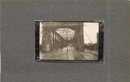 GUERRE 1914/18 - Strasbourg;  Pont De Khel En 1918 (photo Format 7,5x 4,6 Cm) - Lieux