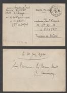 CARTE PREOBLITEREE - PRISONNIER DE GUERRE FRANCAIS 12 - 6 - 1940 POUR ESSERT - BELFORT  / RARE VOIR DETAIL (ref 7339) - Marcophilie (Lettres)
