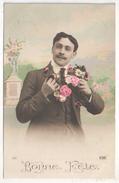 Bonne Fête - Jeune Homme - Fleurs - PH 137 - Holidays & Celebrations