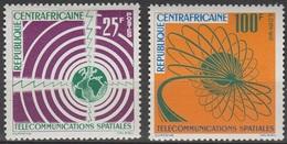 Centrafrique 1963 N° 27-28 MNH Télécomunications Spatiales (D15) - Zentralafrik. Republik