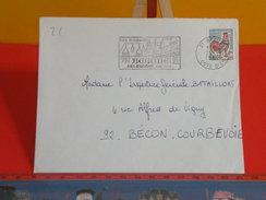 Marcophilie > Lettre > Flamme > 21 Cote D'Or > Beaune - Son Hospice Son Musée -1967 - Storia Postale