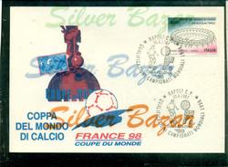 CAMPIONATI MONDIALI DI CALCIO-FRANCE 98-COUPE  DU MONDE-ANNULLO SPECIALE  NAPOLI -ITALIA POLONIA-QUALIFICAZIONI 30/4/199 - Calcio