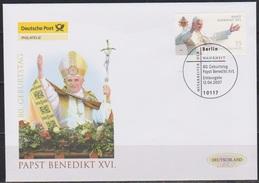 Deutschland FDC 2007 Nr.2599 80.Geb. Papst Benedikt XVI ( D 3893 ) - [7] República Federal
