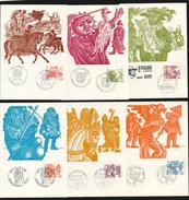 Schweiz 1977 Michel 1101-07 Alle 6 Amtlichen Maximumkarten (Mi 140,-€) - Maximumkarten (MC)