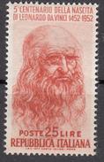 Italia 1952 - Leonardo Da Vinci - 25 E 60 Lire ** MNH - 1946-.. République