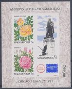 1986. Ameripex - Block  - Imperforated :) - Blocks & Kleinbögen