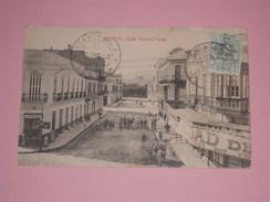 TB Cpa Espagne - MELILLA - Calle General Pareja - Timbre 1920 - Pour Casablanca Maroc - Animée - Attelage - Melilla