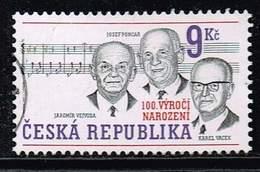 Tschechische Republik 2002, Michel# 315 O K. Vacek, J. Vejvoda, J. Poncar (composers) - Czech Republic
