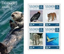 SOLOMON Isl. 2014 - Turtle, Endangered - CV = 8 € - Turtles