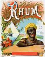 1 Etiquette Ancienne De RHUM - Jamais Collée - - Rhum