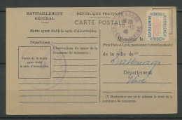 Lettre-1758 Bouches Du Rhone Carte Postale Ravitaillement Mairie 10/12/1946 Gréasque - 1921-1960: Periodo Moderno