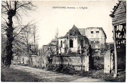 CPA 80 ( Somme ) -   CONTOIRE - L'Eglise - Other Municipalities