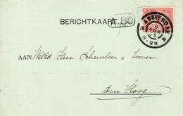 1905  Firma-drukwerk  Met Grootrond Amsterdam Naar Den Haag - Periode 1891-1948 (Wilhelmina)