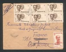 Enveloppe DeTananrive Pour La France Du 19 Janvier 1951 - Madagascar (1889-1960)