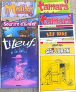 Lot De 7 BD: Tamara N° 4,5 - Les Kids - Gai-Luron (Gotlib) - Malika - Titeuf - Sourire D'Enfer - Lots De Plusieurs BD