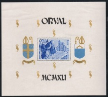 """Année 1941  COB BL11** - Abbaye N.D. D'Orval """"Bloc Mouchoir"""" Dentelé -  Cote 25,00€ - Unused Stamps"""