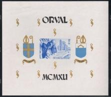 """Année 1941  COB BL12** - Abbaye N.D. D'Orval """"Bloc Mouchoir"""" Non Dentelé -  Cote 25,00€ - Unused Stamps"""