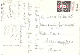 £10 CAMPANIA NAZIONALE ANTITUBERCOLARE CARTOLINA BORMIO PANORAMA - Vignetten (Erinnophilie)