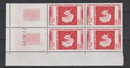 LOT 172 TAAF N° 39 BLOC DE 4 COIN DATES ** - Neufs